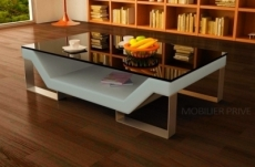 table basse design perle, gris clair