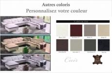 canapé d'angle relax en cuir buffle italien de luxe combirelax,  couleurs personnalisées, angle droit.