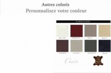 canapé 2 places en cuir italien buffle valoria, couleur personnalisée