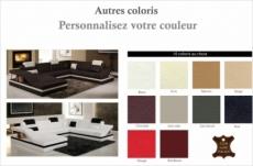 canapé d'angle en cuir italien 8 places perfect, couleur personnalisée