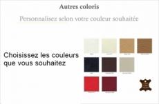 ensemble canapé 3 places et 2 places en cuir italien vachette candide, couleurs personnalisées