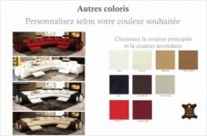 canapé d'angle en cuir italien 5/6 places petit excelia, couleur personnalisée, angle droit