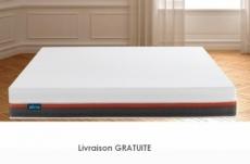 exceptionnel matelas zéna 140x200 avec 4 couches de mousse haute qualité, mémoire de forme + latex et sur-couche, épaisseur 26 cm, matelas haute technologie