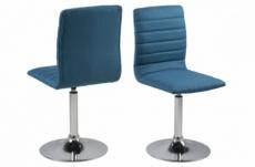 lot de 2 chaises pixel en tissu de qualité, bleu