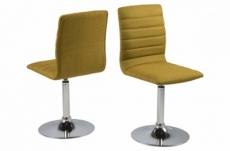 lot de 2 chaises pixel en tissu de qualité, couleur curry