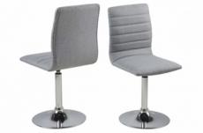 lot de 2 chaises pixel en tissu de qualité, gris clair