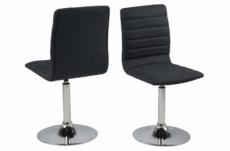 lot de 2 chaises pixel en tissu de qualité, gris foncé