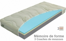 matelas polargel memoryvisco-t4 mémoire de forme, ferme de 3 couches de mousses haute qualité, épaisseur 20 cm.   140x200 cm, materasi