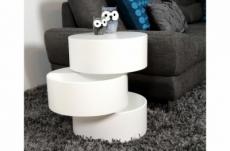 table basse design laquée blanc mat avec rangement pool
