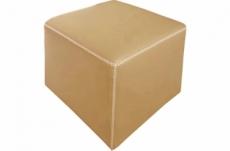 pouf carré buffalo en cuir de buffle (gamme de cuir de buffle), beige