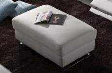 grand pouf relaxino en cuir de buffle (gamme de cuir de buffle), blanc