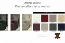canapé 2 places en cuir italien buffle ravena, couleur personnalisée