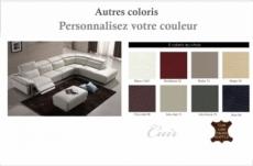 canapé d'angle relax en cuir buffle italien, de luxe relaxino,  couleur personnalisée, angle droit