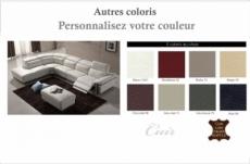 canapé d'angle relax en cuir buffle italien de luxe relaxino,  couleur personnalisée, angle gauche