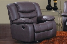 fauteuil 1 place relaxation en cuir italien relaxis, chocolat