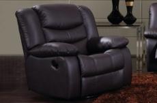 fauteuil 1 place relaxation en cuir italien relaxis, noir