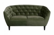 canapé 2 places en tissu matelassé rita coloris vert