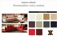canapé d'angle en cuir italien 6/7 places riva, couleur personnalisée, angle droit