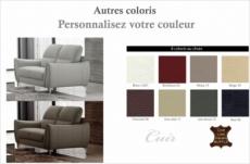 canapé 2 places en cuir italien buffle rivoli, couleurs personnalisées.
