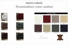 fauteuil 1 place en cuir italien buffle romeo, couleur personnalisée