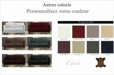 canapé 2 places en cuir italien buffle romeo, couleur personnalisée