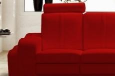 canapé 2 places en cuir italien rosso, rouge