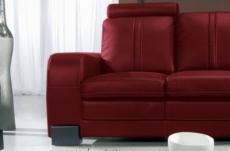 canapé 2 places en cuir italien rosso, bordeaux