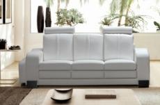 canapé 3 places en cuir italien rosso, blanc