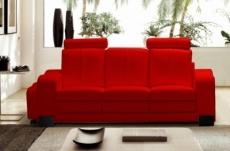 canapé 3 places en cuir italien rosso, rouge