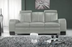 canapé 3 places en cuir italien rosso, gris clair