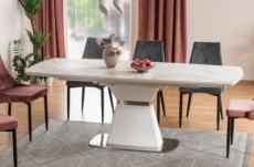 table à manger extensible satori ii ceramic, effet marbre