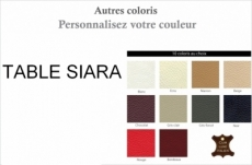 table basse design siara, couleurs personnalisées
