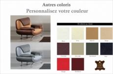 fauteuil 1 place en cuir italien sicilia, couleurs personnalisées