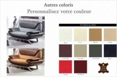 canapé 2 places en cuir italien sicilia, couleurs personnalisées