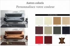 canapé 3 places en cuir italien sicilia, couleurs personnalisées