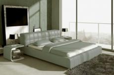 lit design en cuir italien de luxe smiley, gris clair