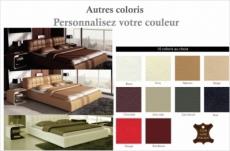 lit design en cuir italien de luxe smiley, personnalisé