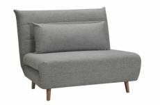 fauteuil banquette convertible en tissu de qualité, gris, spirit