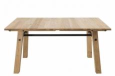table à manger stelia, placage en chêne dauvage brossé