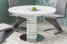 table extensible street blanche, plateau: mdf + dessus verre trempé