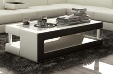 table basse design de qualité, blanc et noir, xeri