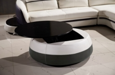 table basse design de qualité, blanc et gris foncé, geneto
