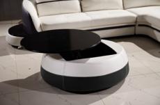 table basse design de qualité, blanc et noir, geneto