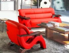 canapé 3 places en cuir supérieur luxe haut de gamme italien tentation, rouge