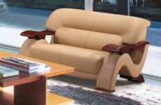 canapé 2 places en cuir supérieur luxe haut de gamme italien tentation, beige