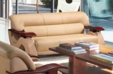 canapé 3 places en cuir supérieur luxe haut de gamme italien tentation, beige