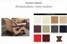 fauteuil 1 place en cuir supérieur luxe haut de gamme italien tentation, couleur personnalisée