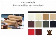 canapé 2 places en cuir supérieur luxe haut de gamme italien tentation, couleur personnalisée