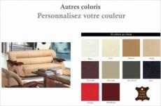 canapé 3 places en cuir supérieur luxe haut de gamme italien tentation, couleur personnalisée