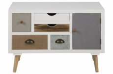 commode theresa, blanc, 13 tiroirs